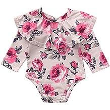 ... chicco abbigliamento neonata. Culater 2018 ❤ ❤Infant Ragazze T-Shirt a  Manica Lunga Floreale Ruffles Pagliaccetto 061edb482b6