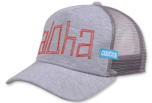 Coastal Trucker Cap Aloha Jersey Grey - One-Size