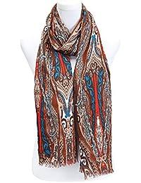 écharpe femme foulard imprimé paisley- disponibles en plusieurs couleurs