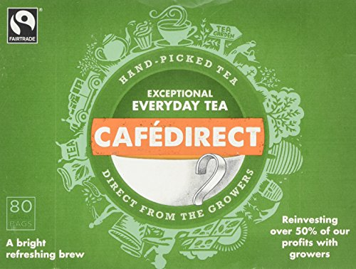 Cafédirect Fairtrade Everyday Tea 80s (Pack of 3, Total 240 Teabags)