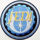 Star Wars Jedi schwarz Bordüre bestickt abzeichen Patch Aufnäher oder zum Aufbügeln 8cm x 8cm