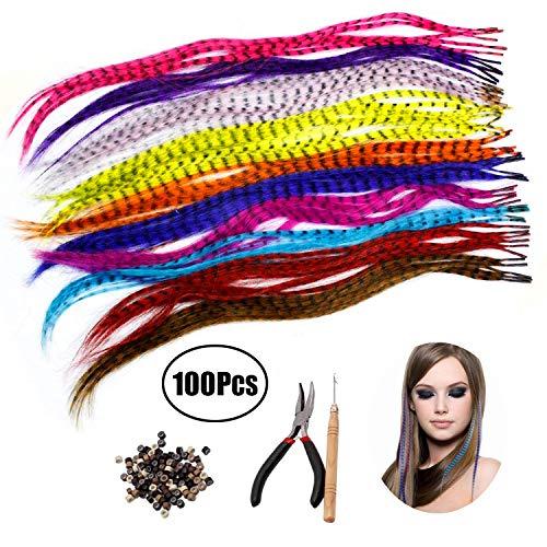 Lvcky Kit Extensiones Pelo sintético 52 Colores Surtidos