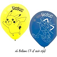 Pokemon Pikachu and Friends Latex Balloons (6ct) by Design Ware-Amscam