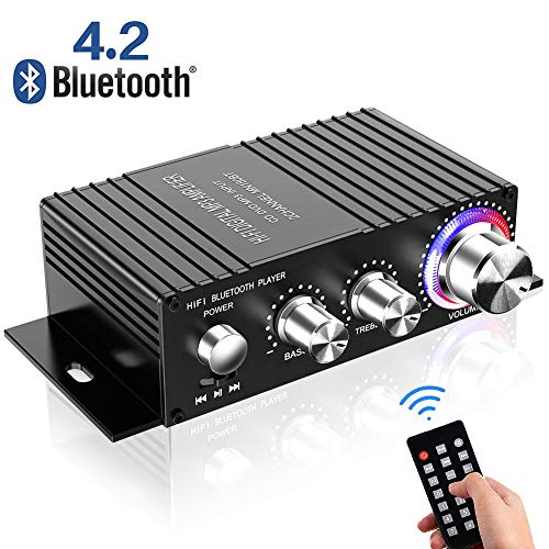 Amplificatore Bluetooth Audio Auto,DUTISON Mini Amplificatore Stereo HiFi per Auto e...