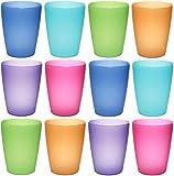 idea-station NEO vasos de plástico 250 ml reutilizable, 12 piezas, colorido, apilable, también se...