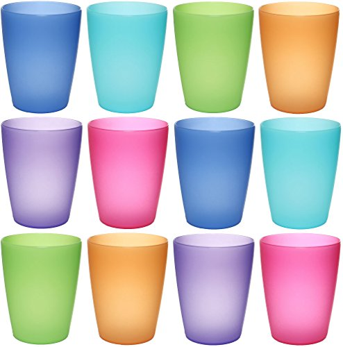 idea-station-neo-tasses-en-plastique-250-ml-reutilisable-12-pieces-colore-empilable-peut-egalement-e