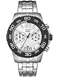 CAT PW Drive Men's Watch Black & White Dial Stainless Steel Strap PW14311222