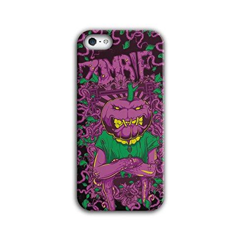 Wellcoda Gemüse Grusel Zombie Hülle für iPhone 5 / 5S Kopf Rutschfeste Hülle - Slim Fit, komfortabler Griff, Schutzhülle