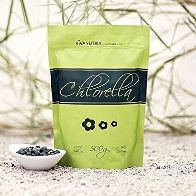 Chlorella pure, 2000 Presslinge, 500g, Rohkostqualität! von IQ-Trade bei Du und dein Garten