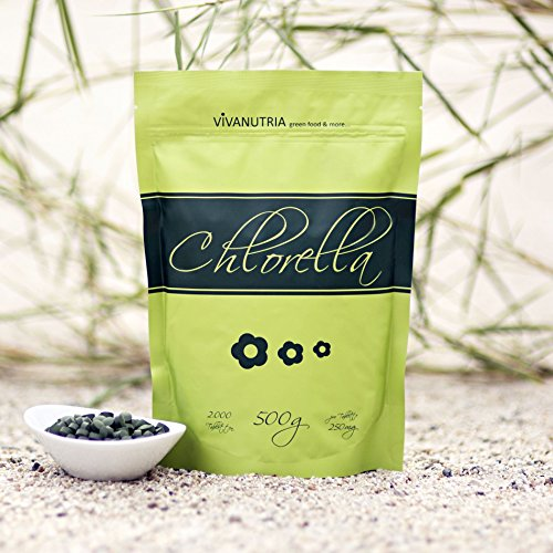 Chlorella pure, 2000 Presslinge, 500g, Rohkostqualität!
