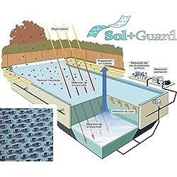 WikiCover Geobubble Sol-Guard Cobertor Solar Térmico para Piscina, Traslúcido, 700x350x0.6 cm