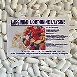 The Vitamin L-Arginine, L-Ornithine, L-Lysine 60 comprimés  Muscle mince MASSE  1-4 par jour (L)