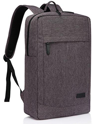 Vaschy Leichte Laptop Rucksäcke, Reisen Rucksack Geschäft Rucksäcke mit Wasserdichten Regenhülle Leichten Notebook Rucksack bis zu 17 Zoll Grau