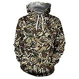 Yvelands Herren Hoodie Mantel Casual Herbst Winter Weihnachten Druck Langarm Hoodies Sweatshirt(EU-48/L,D)