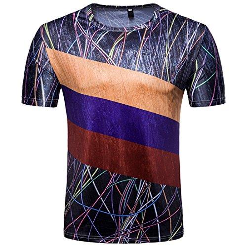 2018 Hombres Moda Camiseta 3D Impresión Tops Copa del Mundo O-Cuello Camisetas Manga Corta Camiseta Rusia L(Tag, Asia)=UE M