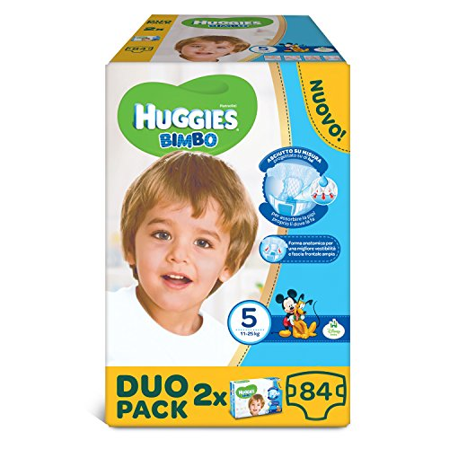 Huggies–Bimbo–Windeln–Größe 5(12–18kg)–2x 42Windeln (Baby Huggies Windeln Größe 5)