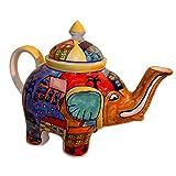 Teekanne Elefant Kanne keramik handbemalt Kännchen Geschirr - Gall&Zick