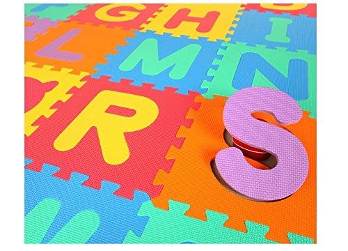 Glitter Collection (TM) Kids Puzzle Alphabet Mat , 26 Tiles , 8 mm ,interlocking MAT INTMAT-177