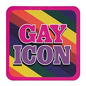 boxer gifts untersetzer mit aufschrift gay icon. Black Bedroom Furniture Sets. Home Design Ideas