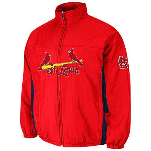 St. Louis Cardinals MLB Herren Doppel-Climate On-Field Jacke (4XT) (Usa Cap Team Fitted)