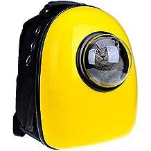 YOMMY® Mochila Cápsula Transportín para Mascotas Perros Gatos Mochila Hombro Bolso al Aire Libre del Viaje 4 Colores Elegir 32 * 29 * 42 cm YM-1475 (Amarillo)
