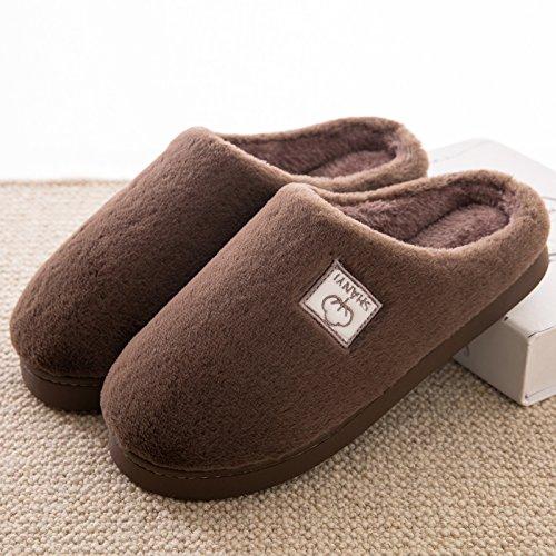 DogHaccd pantofole,In inverno il cotone pantofole borsette con coppie di spessore pantofole di peluche home home non - slip caldo pantofole maschio Il caffè
