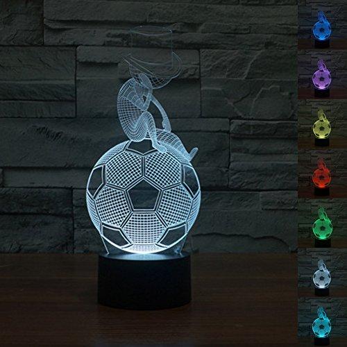 HeXie LED Nacht Lichter 3D Illusion Nachttisch Lampe 7 Farben ändern Schlafen Beleuchtung mit Smart Touch Button Nette Geschenk Warming präsentieren kreative Dekoration ideale Kunst und Handwerk (Denken (Jungen Dekoration Für Ideen)