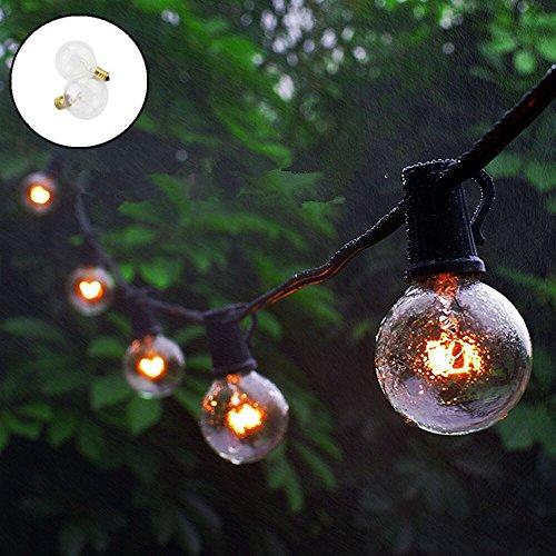 ELINKUME 25er G40 Globe Glühbirne Lichterkette, 25 Fuß/7,65 Meter Innen Außen Wasserdichte String...