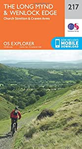 OS Explorer Map (217) Long Mynd and Wenlock Edge