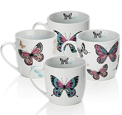 Sabichi Mariposa Mug Set, Multicolore,