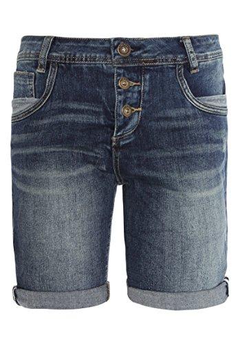 Sublevel Damen Jeans Bermuda-Shorts | Bequeme Kurze Hose mit Tiefem Schritt | Stretch Jeans-Shorts im Used-Look