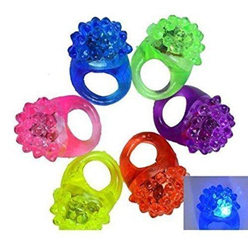 UChic 10 STÜCKE LED-Licht Erdbeere Blinkende Fingerring Elastische Gummi Ring Ereignis Partei Liefert Leuchtende Spielzeug Party Dekoration (Farbe nach dem ()