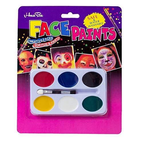 Globalflashdeal Malerei Palette 6 Farben Gesicht Koerper Make-up Fuer Halloween Party