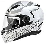 Integralhelm Motorrad Airoh Movement Größe XS Farbe Weiß Grau glänzend NEU