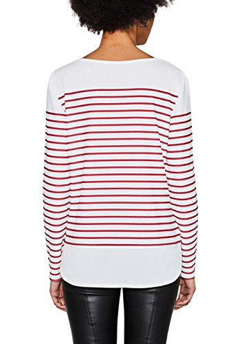 ESPRIT Collection Damen Langarmshirt Rot (Berry Red 625)