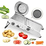Mandolin Slicer, PAVLIT Professional All-in-One Food Slicer with Adjustable Stainless Steel Blade, Onions