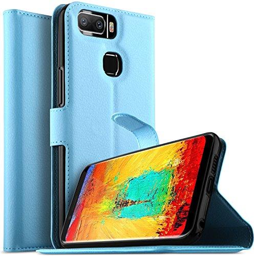 KuGi Leagoo S8 Pro Hülle, Leagoo S8 Pro Wallet Case, Brieftasche Case Hülle PU Kunstleder Flip Case mit Standfunktion Kartenfächer und Bargeld für Leagoo S8 Pro Smartphone.Blau