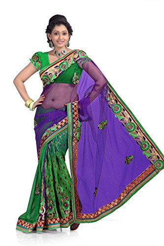 Chirag Sarees Synthetic Saree (7268-A_Multi)