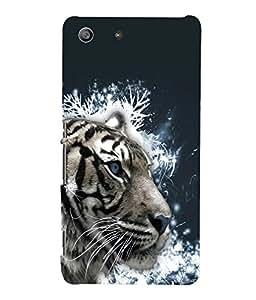 printtech White Tiger Face Back Case Cover for Sony Xperia M5 Dual E5633 E5643 E5663:: Sony Xperia M5 E5603 E5606 E5653