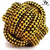 BnM Dog Toys Rope Ball for Chewing and Teething (8cm)(Colors May Vary)