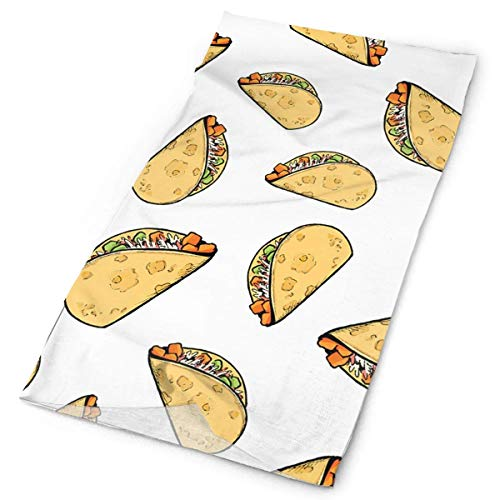 Sweet Potato Tacos Pattern Stirnband Unisex Headwrap Magic Head Scarf Bandana Headwear Neckerchief Sun Guard Do Rag Cap Unique Headdress Wristband Face Mask Neck Gaiter -