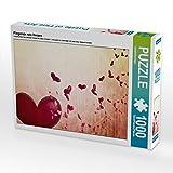 Fliegende rote Herzen 1000 Teile Puzzle quer