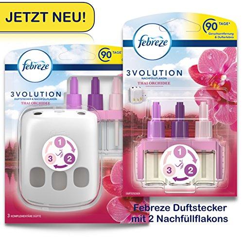 Febreze SET 3Volution Duftstecker und 2xNachfüllflakon Thai Orchidee