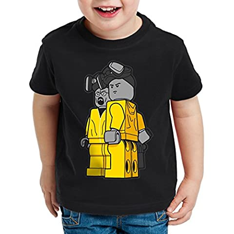 style3 Brick Bad T-shirt per bambini e ragazzi white meth walter crystal breaking tv serial