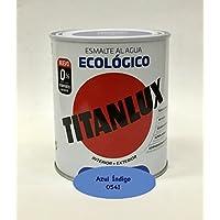 Titanlux - Esmalte Ecológico Acrílico Satinado Titan 750 ml (Azul Índigo 0541)