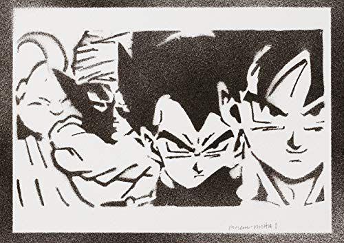 Dragon Ball Goku Vegeta Piccolo Majin Bu Poster -