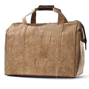 Corkor Luggage Travel Oversized Bag, Made From Cork Eco Green Vegan, Handmade Gift Idea, Lighter Brown