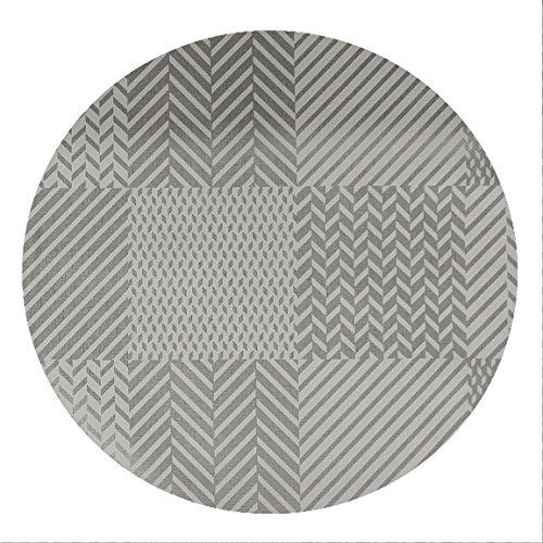 DecoHomeTextil Wachstuch Tischdecke Rund Oval Farbe & Größe Wählbar Robust Fantastik Grau 90 cm Rund abwaschbare Wachstischdecke