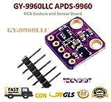 TECNOIOT I2C GY-9960LLC APDS-9960 RGB Gesture and Sensor Board Module Breakout |Gy-9960-3.3 Apds-9960 RGB IR Infrarot Geste Bewegung Sensor Bewegungserkennung Modul für Arduino