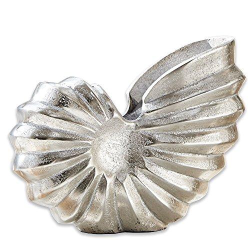 Antik-silber Finish Highlights (LOBERON Deko-Ammonit Whirl silber)